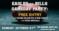 Eagles vs. Bills Party: Free Entry, Beer/Food Specials, Open Bar & More!