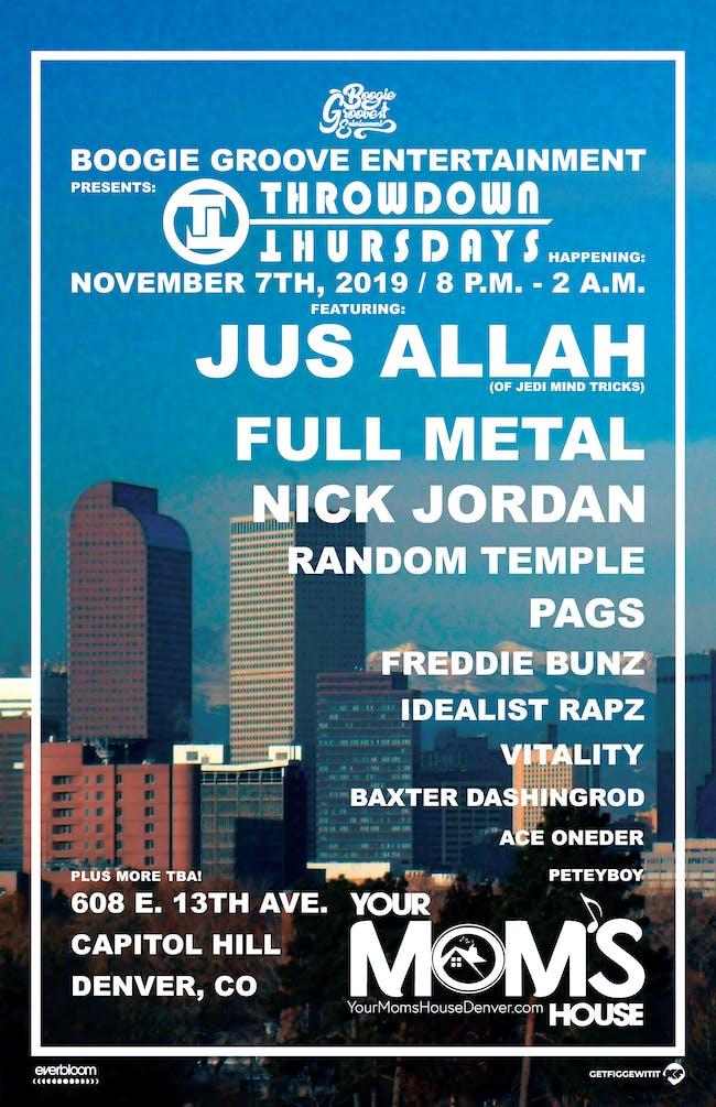 Jus Allah (of Jedi Mind Tricks // Full Metal // Nick Jordan // Pags // More