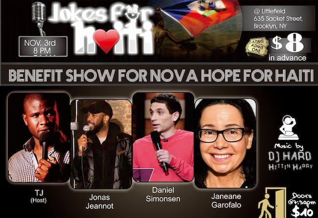 4th Annual Jokes For Haiti Benefit ft. Janeane Garofalo