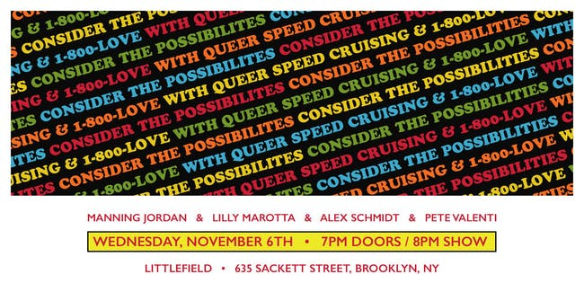 Consider the Possibilities with Queer Speed Cruising & 1-800-LOVE