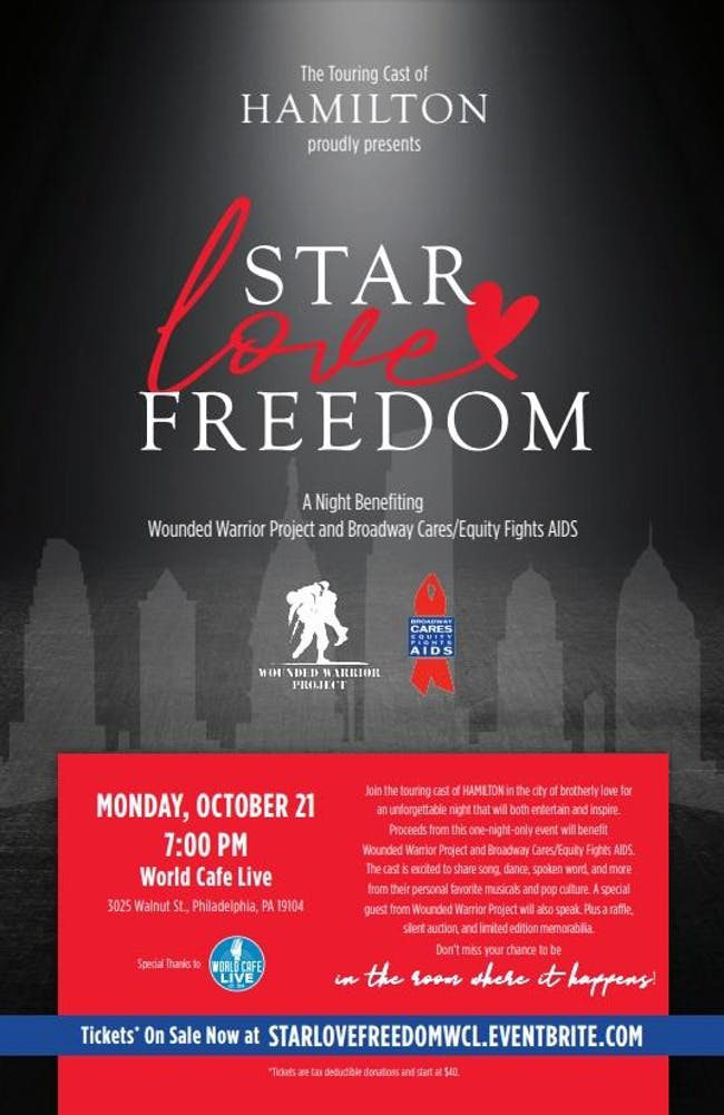 Star-Love-Freedom: A Benefit Concert featuring the Touring Cast of Hamilton