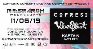 RE:Search ft. Cofresi & Vibe Street w/ Kaptain (Late Set), Jordan Polovina