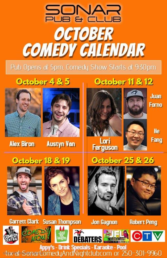 Garrett Clark and Susan Thompson - Friday October 18th, 2019 - doors 9pm, Show at 9:30pm!