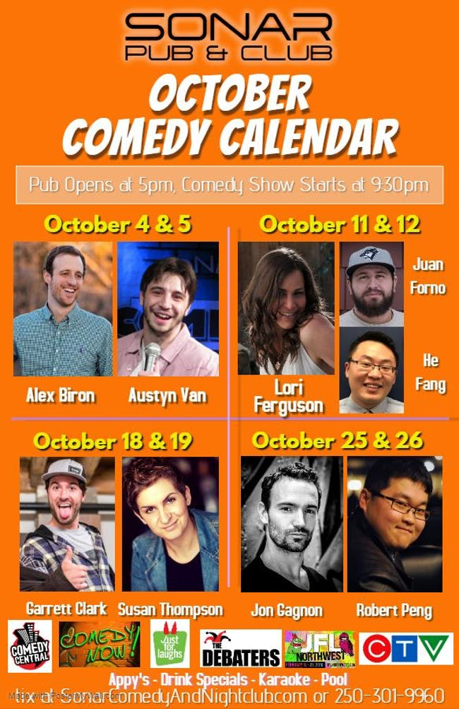 Garrett Clark and Susan Thompson - Saturday October 19th, 2019 - doors 9pm, Show at 9:30pm!