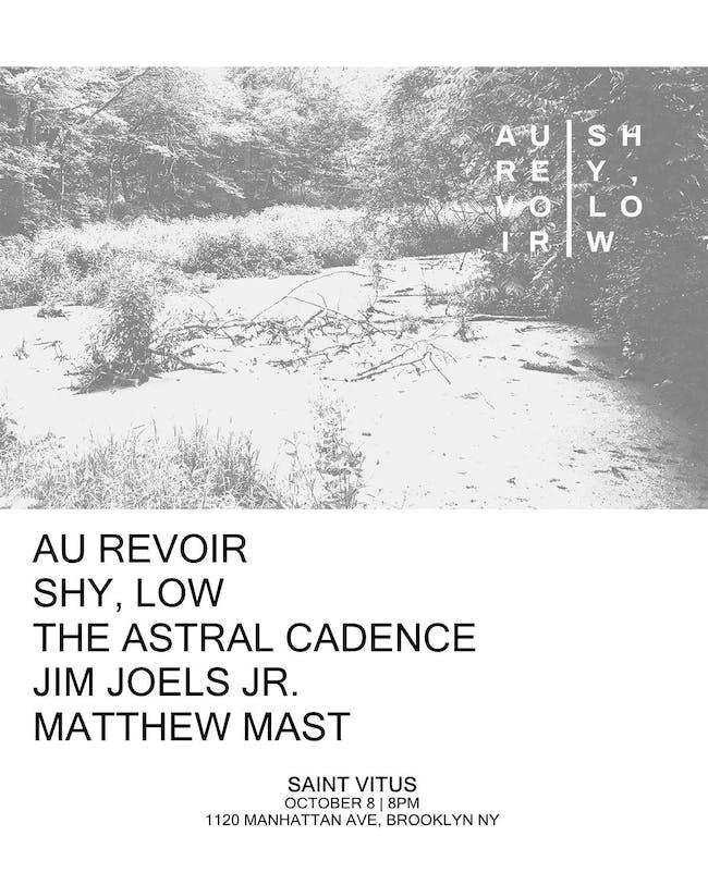 Au Revoir, Shy,Low, The Astral Cadence, Jim Joels Jr., Matthew Mast