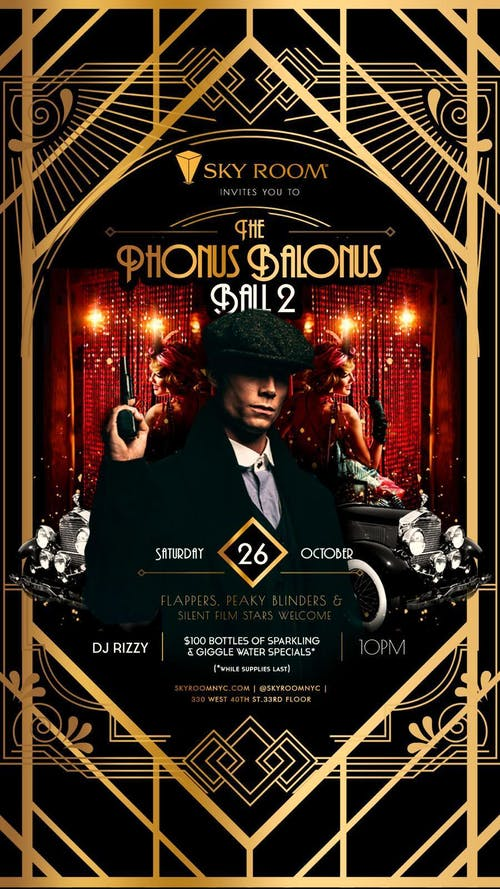 Phonus Balonus Ball Halloween Party at Sky Room Saturday 10/26