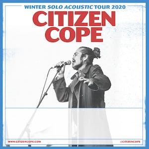 Citizen Cope Winter Solo Acoustic Tour