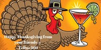 CLOSED for Thanksgiving Day: Happy Holidays