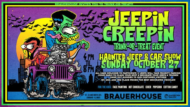 Jeepin' Creepin' Trunk or Treat Haunted Jeep & Car Show at Brauer House