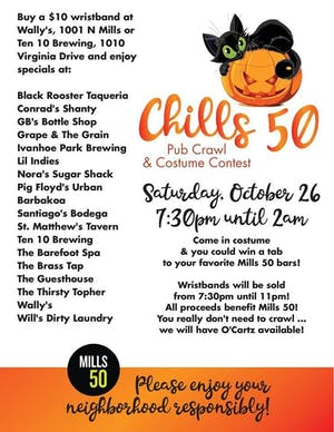 Chills 50 Pub Crawl & Costume Contest