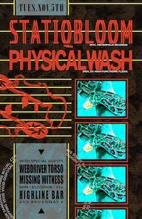 Statiqbloom, Physical Wash, Missing Witness, Webdriver Torso
