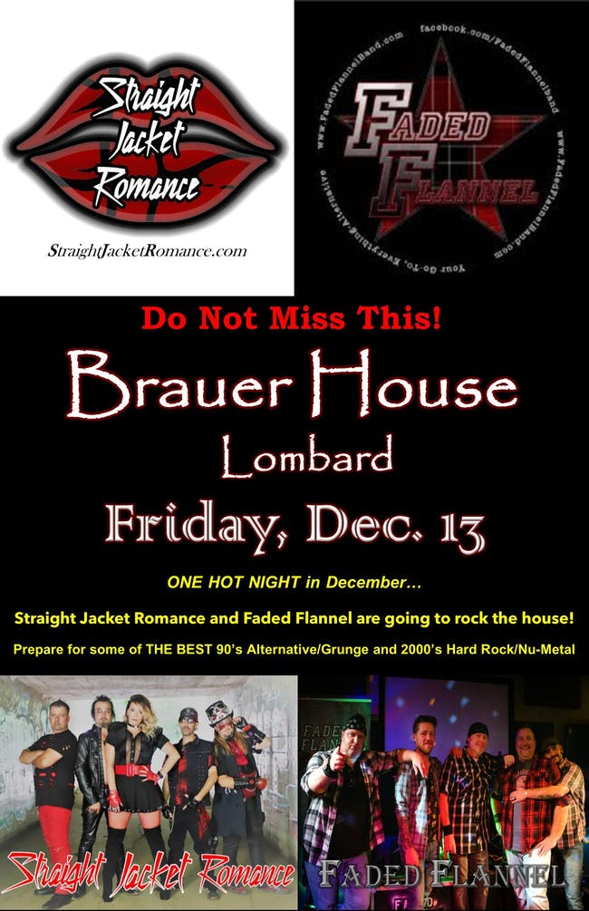 Straight Jacket Romance with Faded Flannel at Brauer House