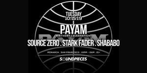 PAYAM . SOURCE ZERO . STARK FADER . SHABABO — Soundpieces SF