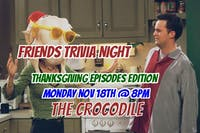 Friends Trivia Night: Thanksgiving Episodes Edition! @ The Back Bar