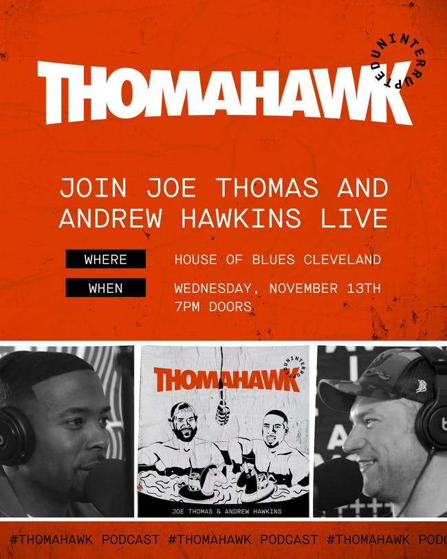 The ThomaHawk Show Live  ft. Joe Thomas and Andrew Hawkins