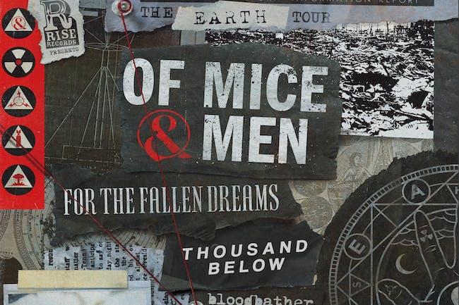 Of Mice & Men • For The Fallen Dreams • Thousand Below • Bloodbather