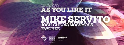 As You Like It w/ Mike Servito 11/09/19