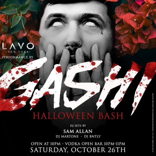 Gashi Halloween Bash at LAVO with Open Bar
