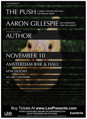 The Push CD Release w/ Aaron Gillespie, Author