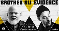 Brother Ali + Evidence Tour w/ Marlon Craft AT THE AGGIE THEATRE