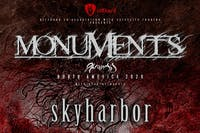 MONUMENTS / Skyharbor /Vespera/(Show Postponed due to Covid-19)