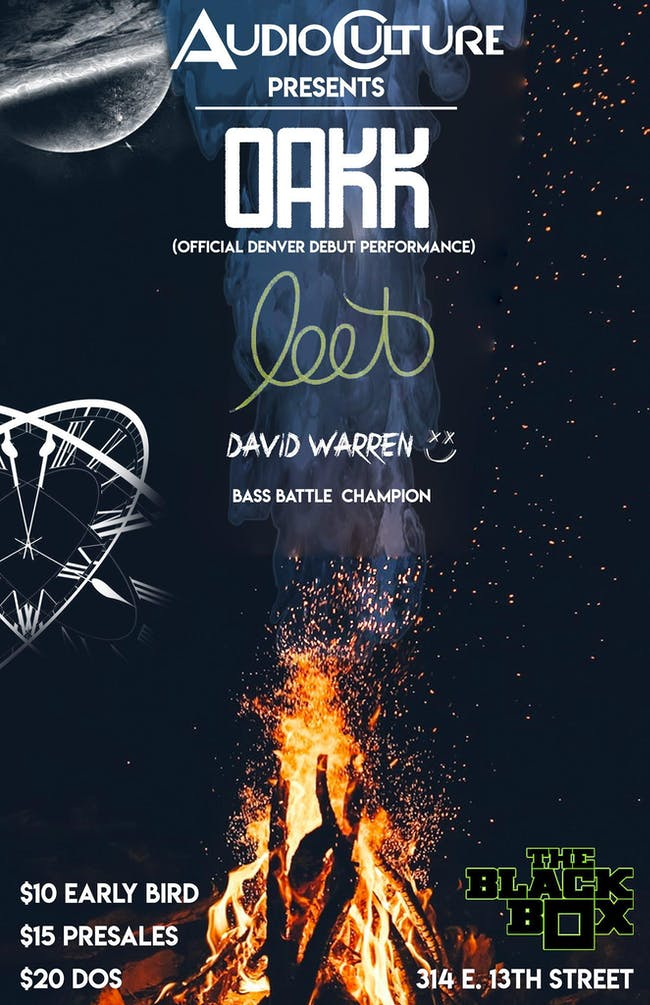 Audioculture Presents: OAKK, Leet, David Warren, Bass Battle Champion