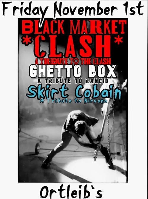 The Clash (Black Market )/ Rancid ( Ghetto Box )/ Nirvana ( Skirt Cobain )