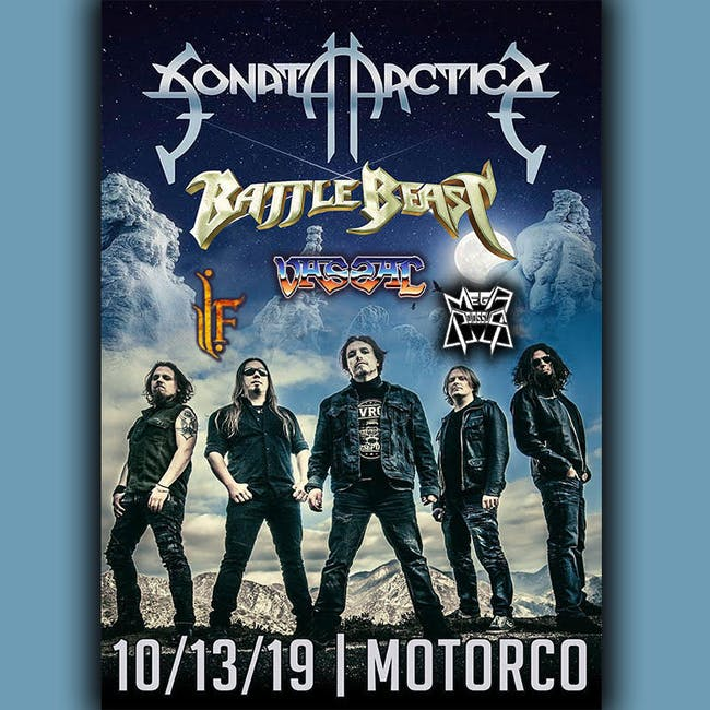SONATA ARCTICA with Battle Beast, Vassal, Mega Colossus, Infinity Fortress