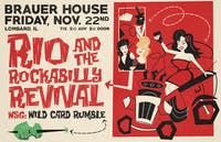 Rio & The Rockabilly Revival with Wild Card Rumble at Brauer House