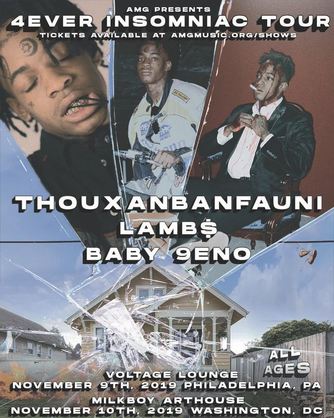 AMG Presents: Thouxbanfauni , LAMB$ & Baby 9eno