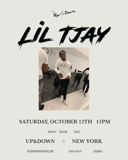 Lil Tjay at Up&Down Saturday 10/12