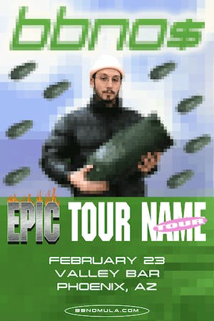 bbno$'s 'epic tour name' tour