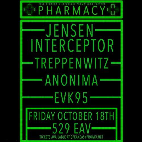 PHARMACY: Jensen Interceptor, Treppenwitz, Anonima, EVK95