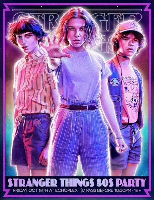 Stranger Things 80s Party at Echoplex