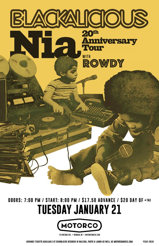 Blackalicious: Nia 20th Anniversary Tour with Rowdy