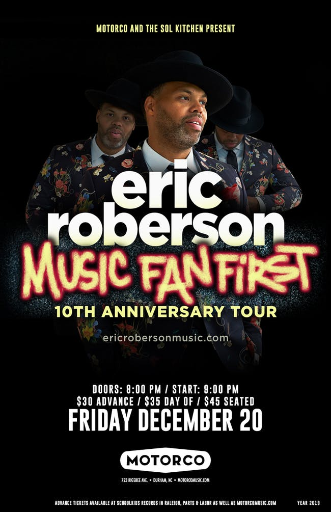 "ERIC ROBERSON 'Music Fan First"" 10th Anniversary Tour with Nao Yoshioka"