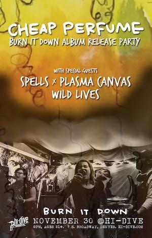Cheap Perfume / SPELLS / Plasma Canvas / Wild Lives