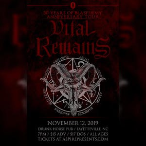 Vital Remains - 30 Year Anniversary Tour