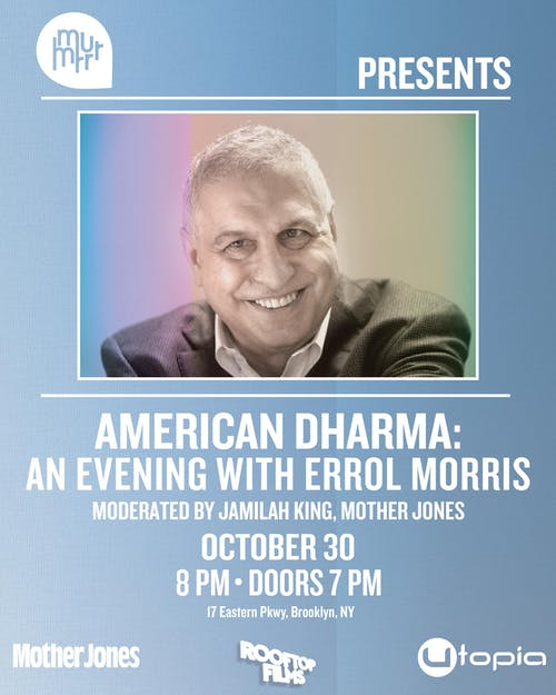 American Dharma: An Evening with Errol Morris