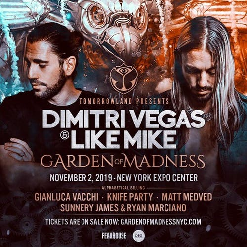 Tomorrowland Presents: Dimitri Vegas and Like Mike - Garden of Madness VIP Tables 11/2