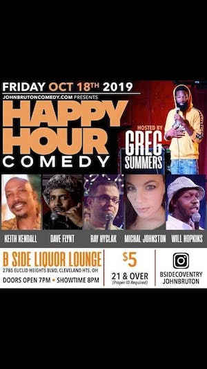 Happy Hour Comedy Hosted by Gregory Summers