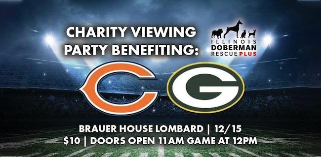 Bears Vs Packers Viewing Benefit For Il Doberman Rescue At