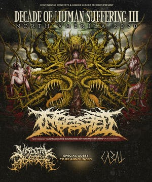Ingested - Decade of Human Suffering Tour