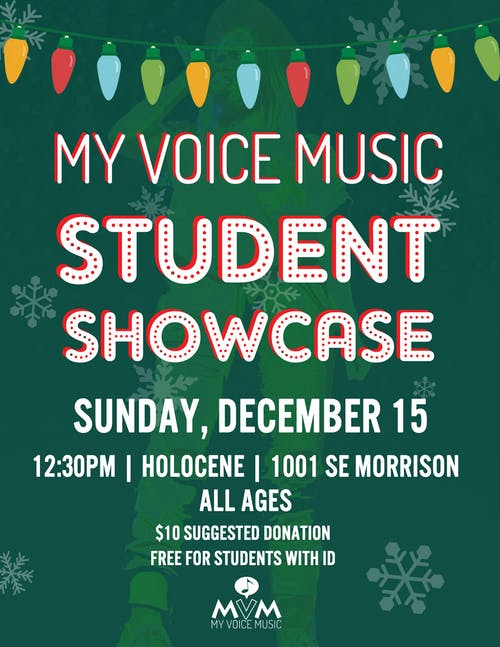My Voice Music Winter Student Showcase