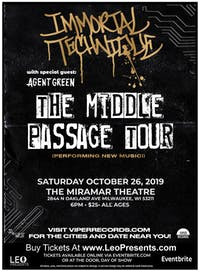 Immortal Technique - The Middle Passage Tour