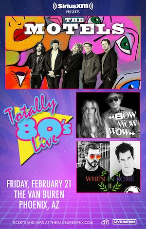 SIRIUSXM PRESENTS Totally '80s Live with The Motels