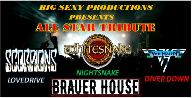 Tribute All Starz with Lovedrive, Diver down and Nightsnake at BHouse LIVE