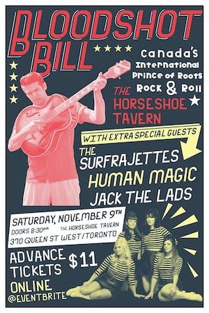Bloodshot Bill, The Surfrajettes, Human Magic, Jack The Lads