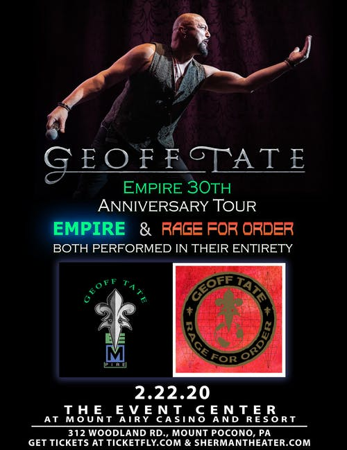 Geoff Tate's 30TH ANNIVERSARY OF EMPIRE IN 2020