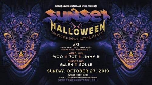 Sunset Sound System Halloween Boat After-Party 2019